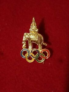 2004 Athens Olympics Thailand  noc Olympic pin badge small gold