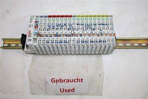 Beckhoff BK4000 KL4002 KL2134 KL1114 Bus Coupler Clamps Complete