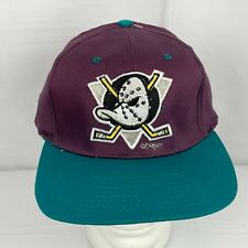 Vintage NHL Anaheim Mighty Ducks Snapback Adjustable Hat NWOT Disney Hockey