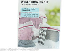 3 x Wäschenetze laundry bags Wäschebeutel Wäschesack Wäschenetz
