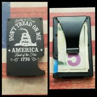 """Don't Tread on Me , Liberty or Death 1776""  RFID tactical minimalist wallet"