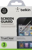 Belkin Screen Overlay Schutzfolie (geeignet für iPod Touch 5, 3er-Pack) transpar