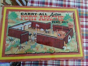 Vintage Louis Marx Fort Apache Play Set #4685 in Original Box