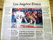 1989 newspaper SAN FRANCISCO 49ERS WIN football SUPER BOWL vs CINCINNATI BENGALS