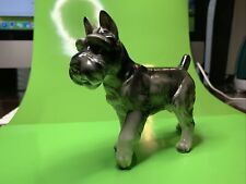 Vintage Lefton Dog Schnauzer Figurine #H02294 Standing Foot Up