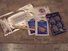 Emergency/Survival:  COFFEE KIT w/Cream & Sugar in sealed Mylar Pouch