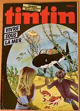 BD Comics Magazine Hebdo Journal Tintin No 7 37e 1982 Vivre Sous la Mer
