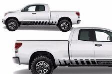 Vinyl Decal Lower Off Road Rocker Wrap for Toyota Tundra TRD 07-13 Matte Black