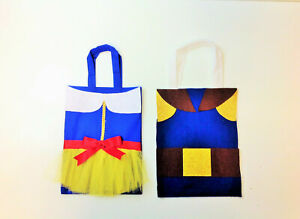 Set of 10 Snow White and Prince Charming Party Bag Treat Goody Bags Blancanieves