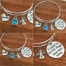 I used to be his angel now he's mine - In Memory of my dad son granddad Bracelet