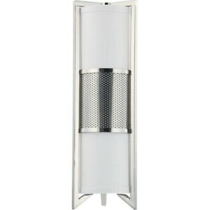 Nuvo Diesel 3 Light Vertical Sconce w/ Slate Gray Fabric Shade 60-4449