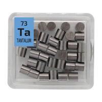 Tantalum Metal Pellets 10 grams 99.99% Element Sample 73 Periodic Element Tile
