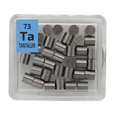 Tantalum Metal Pellets 10 grams 99.99% Element Sample 73 Periodic Element Tile