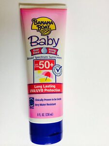 Banana Boat Baby Sunscreen Lotion Board Spectrum SPF 50, 8 Ounce