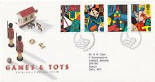 GB 1989 Games & Toys FDC Bureau Cancel with encl.VGC