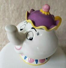 Mrs. Potts Beauty and the Beast Ceramic Cookie Jar Treasure Craft Disney