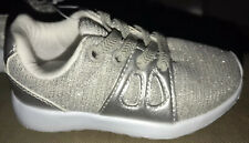 BNWT Gorgeous Baby Girls Silver Mothercare Trainers Size 5