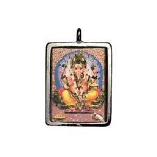 Ganesh, Color Enameled Pendant with Mini OM Pendant #HC-TSD101