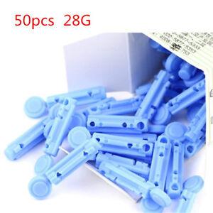 50pcs 28g Disposable Sterile Lancets Finger Pricker For Blood Testing Kit tools