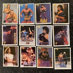 WWF WRESTLING - Mini TRADE CARDS 1990 TITAN SPORTS Replica - 12 CARDS