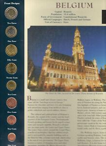 Coins from Around the World Belgium 8 coins 1999-2002 BU UNC 2 € 2002 1 € 1999