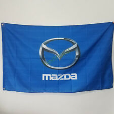 New Banner Flag for Mazda Flag 3x5FT Wall Banner Shop Show Decor Blue