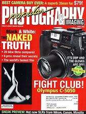 Popular Photography Magazine Black & White the Naked Truth & Olympus C-5050