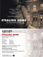 STEALING HOME - A PLAY BY RAYMOND ALVIN ADVERTISING UNUSED COLOUR POSTCARD