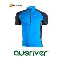 Men Short Sleeve Cycling Clothes Quick Dry Bicycle Tops Jersey Shirt Blue
