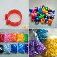 100PCS Bird Rings Leg Bands 8mm for Pigeon Parrot Finch Canary Poultry Rings