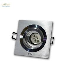 GU10 Proyector Empotrado, Foco Empotrable Anguloso,Aluminio cepillado,230V
