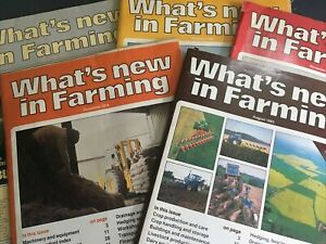 5 x Whats New In Farming Magazine from 1979 - 1986 Used Condition