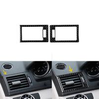 Kohlefaser Armaturenbrett Air Vent Cover  Für Mercedes-Benz C-Klasse W204 07-10