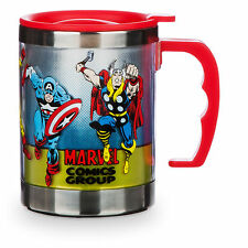Disney Store Avengers Screen Art Travel Mug 12oz Cup Captain America Thor Hulk
