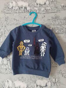 Baby boys Star Wars Sweatshirt 3/6 months, used