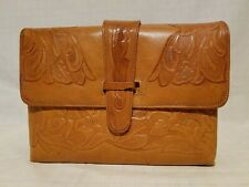 Vintage Avelar's Products Hand Tooled Genuine Leather Shoulder Bag - Mexico