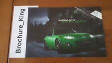 NEW Mazda MX-5 MX5 Sport Black Sales Brochure July 2011 UK Market