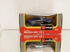 BBURAGO BURAGO 4102 Mercedes Benz 190 E in the coler Blue MINT BOXED. 1:43