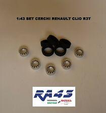 1/43 Set ruote cerchi gomme Wheels rims tire Renault Clio R3T