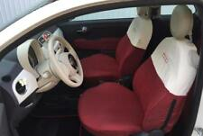 Fodere su Misura Fiat 500 Coprisedili Foderine Tappezzeria SetCompl Rosso/Bianco