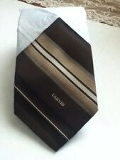 Lanvin Tie Brown Classic Skinny Striped Necktie