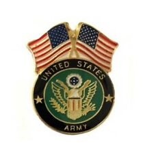 Usa Flag United States Army Lapel Hat Cap Pin Military Tie Tac Fast Shipping #2s