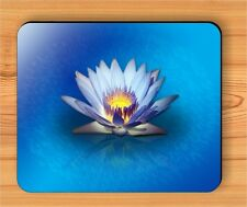 FLOWER WATER BLUE LILY MOUSE PAD -lgb7Z
