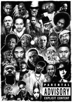 60292 Hip-Hop Rap Gods Media Rappers Collage Wall Print POSTER AU