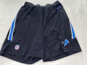 New DETEOIT LIONS NIKE VAPOR PERFORMANCE Sideline Training Shorts NFL Men's XL