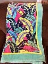Vera Bradley Beach Towel RARE PALM FEATHERS Oversized SOFT NWT UPC:886003296813