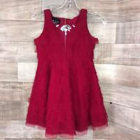 Biscotti Red Tulle Layer Party Holiday Christmas Girls Size 5 Dress