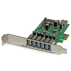 Startech.com 7-port Pci Express Usb 3.0 Card - Standard And Low-profile Design -
