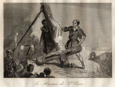 GRAVURE RELIGION / LE MARTYRE DE SAINT PIERRE
