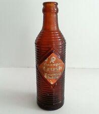 Shreveport La Orange Crush Soda Early Vintage Bottle Amber Star Bottling Works